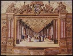 Los pequeños teatros existentes en los palacios reales de los Austrias fueron lugares espectaculares y privilegiados para la alta aristocracia cortesana. La casa regia, reservaba un ámbito específico para el teatro, cada vez más imprescindible durante el Barroco para cumplir con toda su magnificencia y su protocolo. Se ha dicho que Isabel de Valois introdujo en la corte la afición por el teatro y la fiesta, y promovió, así la creatividad literaria española en cierta forma