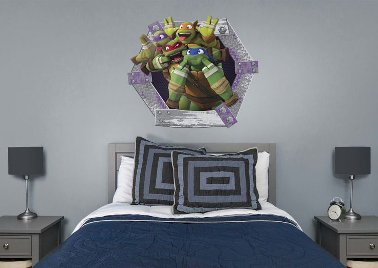 Teenage Mutant Ninja Turtles Goofy Faces Collection Fathead Wall Decal