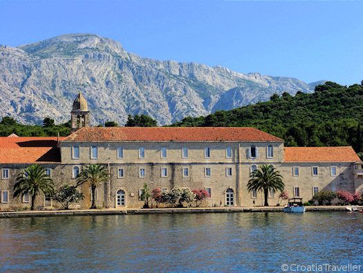 Take a day trip to the Korcula archipelago & explore the small islets such as Badija, which has a beautiful monastery & deer to pet! #Korcula #Island #Badija