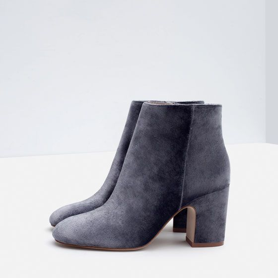 HIGH HEEL VELVET ANKLE BOOTS  Shoes - WOMAN | ZARA United States
