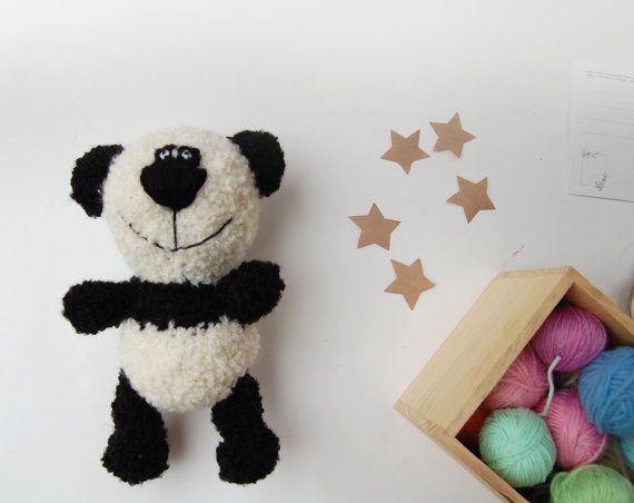 Panda Stuffed Bear Teddy Stuffed animal Plush Bear by RomeoShop