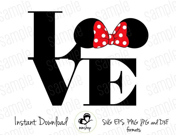 Download Love Minnie Ears - Instant Download - SVG FILES de ...