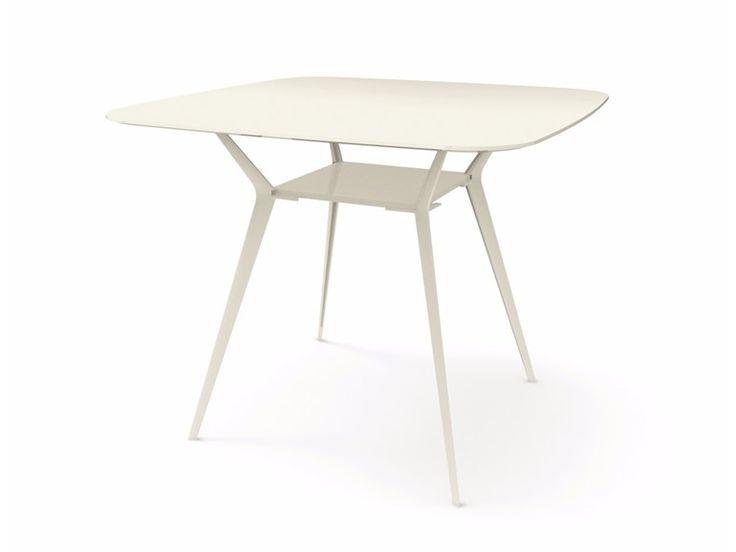 Tavolo alto quadrato BIPLANE 140X140 HIGH - 465 Collezione Biplane by Alias design Alberto Meda