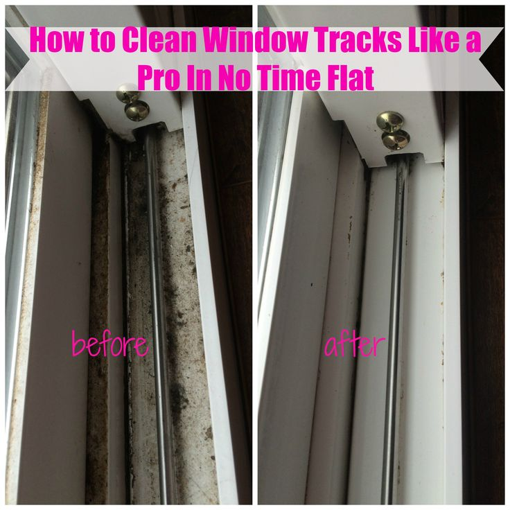 window tracks cleaning