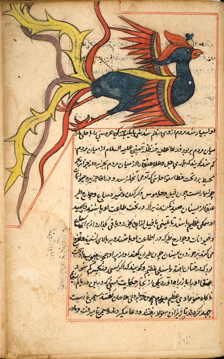 al-Qazwini's Wonders of Creation, compiled in the middle 1200s.