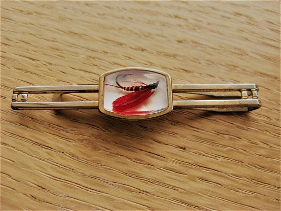 1950s Atomic Rare REPUBLIC STEEL tie bar tie clasp  tie clip