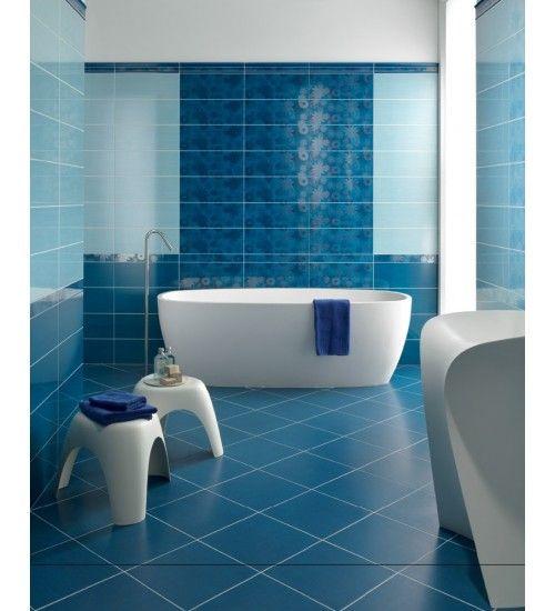 Blu che esalta la vasca freestanding.#therapy4home #bagno #blu #design ...