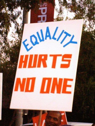 Equality doesn't hurt people the ones that fight to keep it from happening are what hurts people