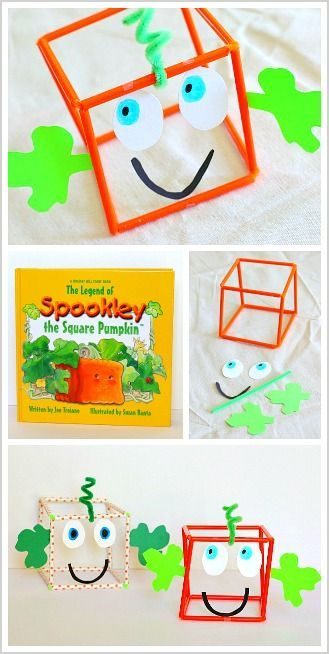 Halloween Math for Kids: 3-D Jack-o-Lantern Craft for Kids inspired by the children's book, Spookley the Square Pumpkin ~ BuggyandBuddy.com