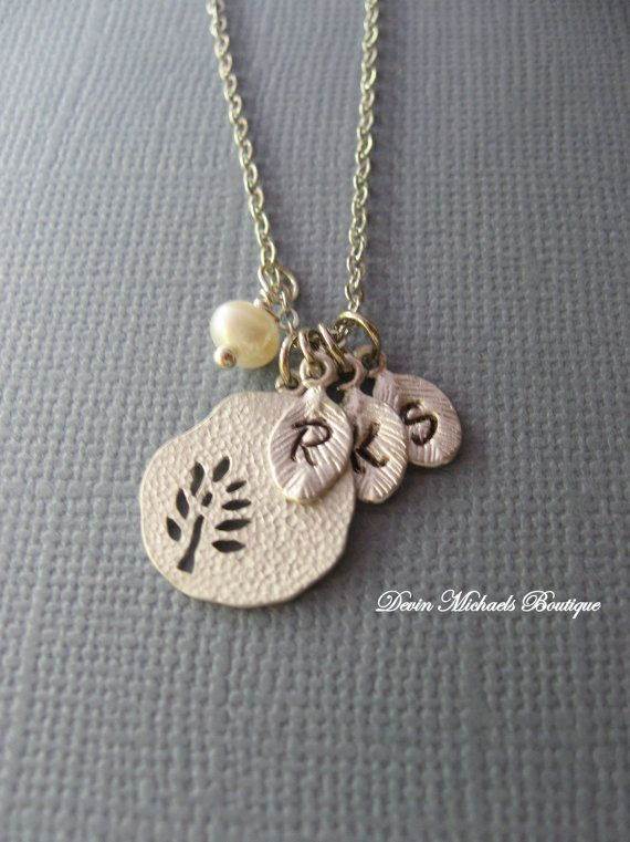 Personalized Family Tree Necklace by Devin Michaels.  Great Christmas gift for mom!