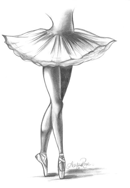 Pointe shoes. Love the drawing.