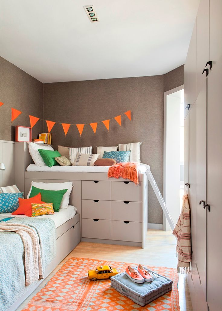 109 best images about dormitorios infantiles on pinterest - Habitaciones color naranja ...