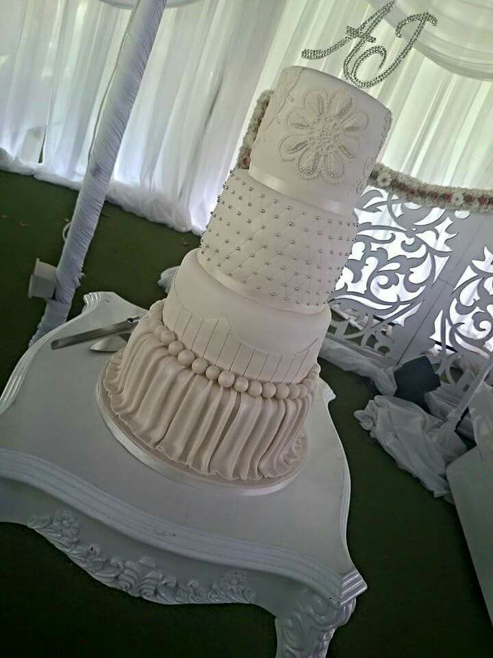 My wedding cake, created by sugar coated cakes. Inspired by cake boss Buddy.