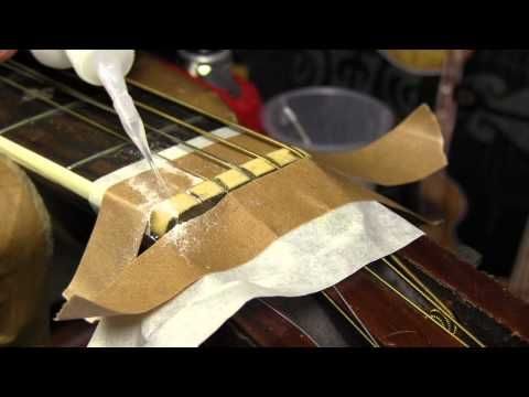 Guitar Repair*   The baking soda and super glue trick - YouTube