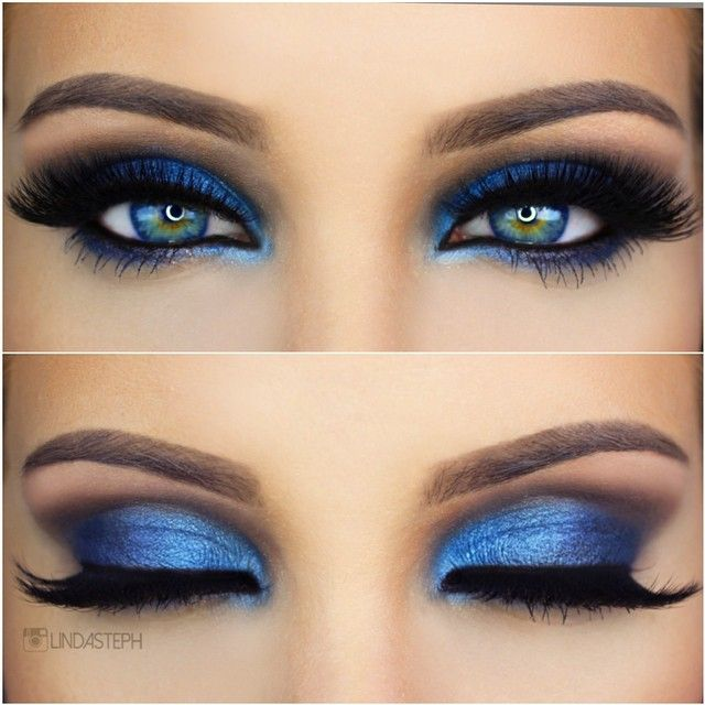17 Best Ideas About Blue Makeup On Pinterest | Blue Eyeshadow Blue Eyeshadow Makeup And Blue ...