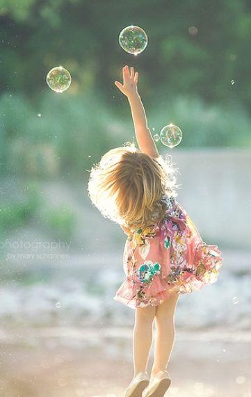 Estourar bolhas de sabão...