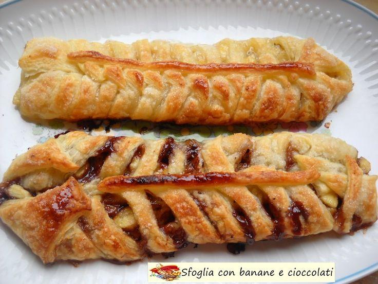 Sfoglia+con+banane+e+cioccolati.+Golosissimo.