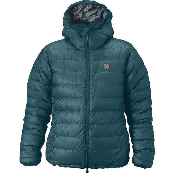 Fjallraven Women's Pak Down Jacket (24.875 RUB) ❤ liked on Polyvore featuring outerwear, jackets, glacier green, fjallraven jacket, down filled jackets, polka dot jacket, green down jacket and green jacket