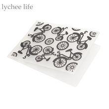 Пластиковые Тиснение Папки Шаблон DIY Скрапбукинг Карты Внесении Украшения Бумажного Велосипед Шаблон(China (Mainland))