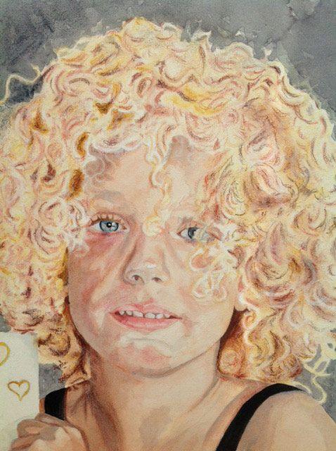 Aquarel portret kind