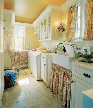 laundry room retro wallpaper - photo #1