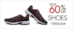 Up to 60% off on Shoes