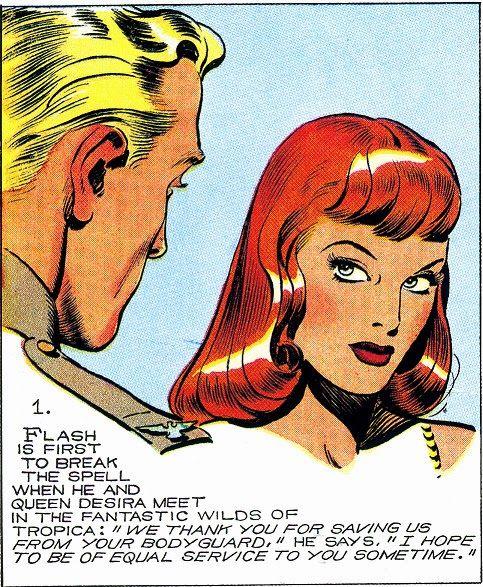 Flash Gordon and Queen Desira B Alex Raymond.