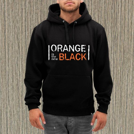 orange is the new black for hoodie --- from NewGalaxy on Etsy
