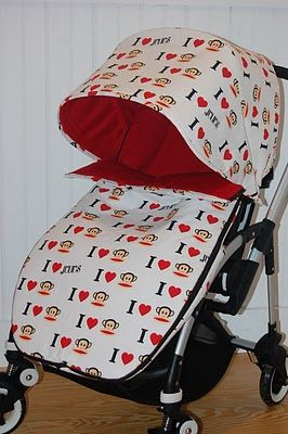 Maine Baby Treats - Custom Bugaboo Stroller Covers: Paul Frank Monkey Bugaboo Bee 2010
