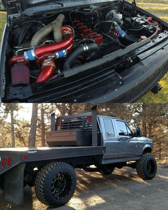 Triple turbo diesel Ford f250 flatbed