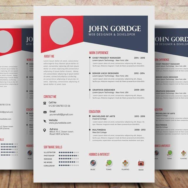 Plantilla Del Curriculum Vitae De Empleo Cv Cv Resume Template Job Cv Resume Template