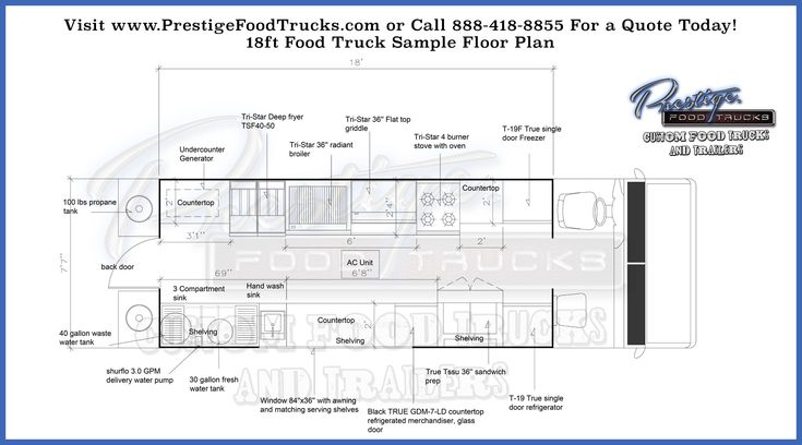 Custom Food Truck Floor Plan Samples | Custom Food Truck Builder & Manufacturer | Food Trucks For Sale | Concession Trailers | Finance, Buy & Lease Food Trucks