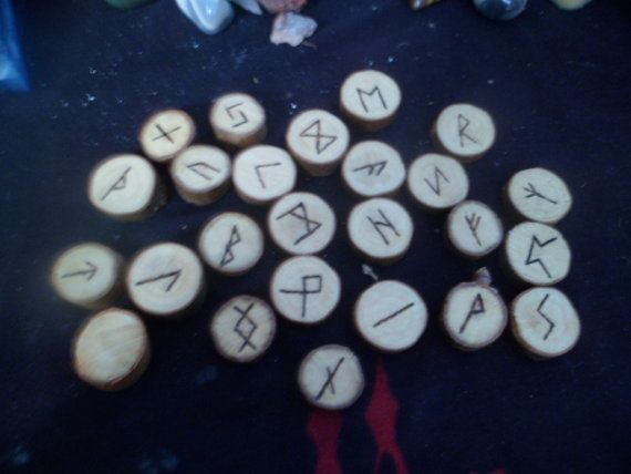 This Rune set is made from Sycamore wood. The rune symbols are carved into the wood and burned in. There are 25 runes in this set, including the Wyrd (blank) rune. The set comes in a Mesh bag to protect the runes from harm and so you can carry them around with you! There is also a sheet of the runes and their meanings included.