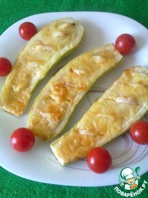 Кабачки с чесноком и соевым соусом
