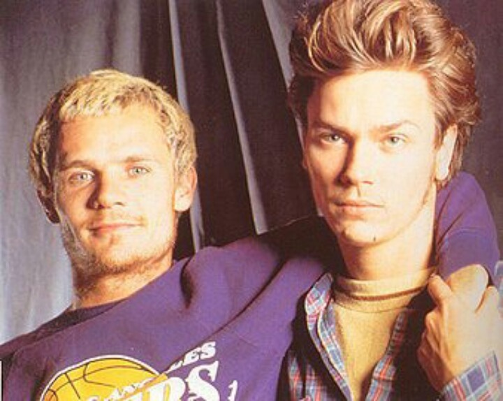 With Flea, member of Red Hot Chili Peppers and My Own Private Idaho (1991) co-star.