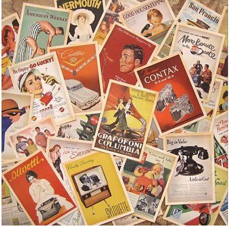 32 pcs/lot BARU Vintage gaya Eropa kartu set Kartu memori Postcard set Greeting Hadiah Fashion retail