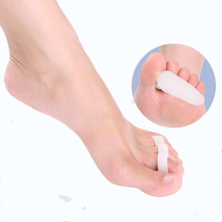 1 Paire Gel De Silicone Orteil Séparateur Orthopédiques Hallux Valgus Correcteur Métatarsien Redresseur Chaussures Coussin Tapis Pieds Soins Outils