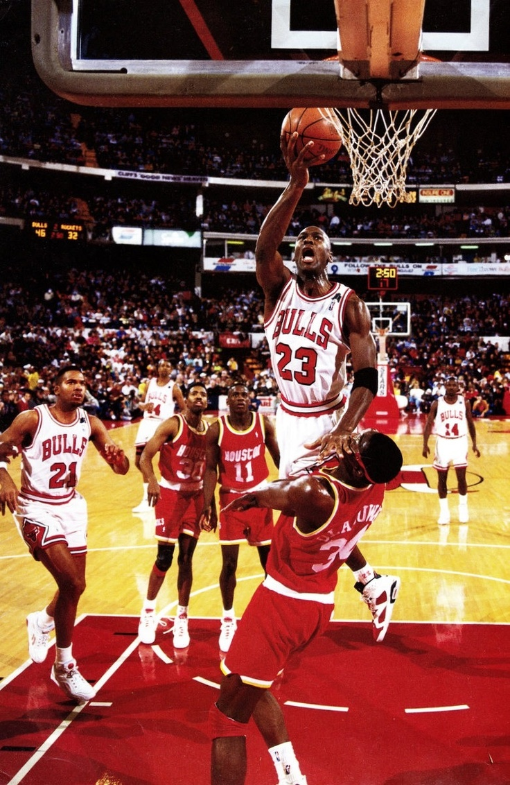 Michael Jordan Chicago Bulls Houston Rockets Akeem Olajuwon