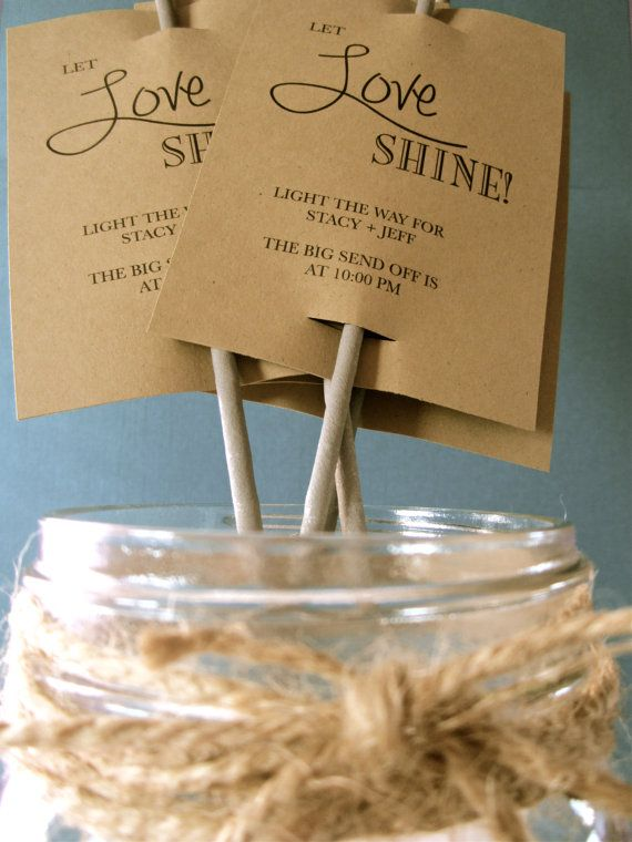 Sparkler tags made out of kraft paper. Could also be monogrammed for an extra touch.