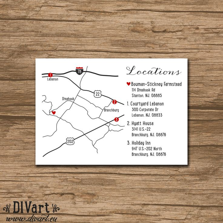 Custom Wedding Map   Made To Match   PRINTABLE File   Enclosure Card, Invitation  Insert