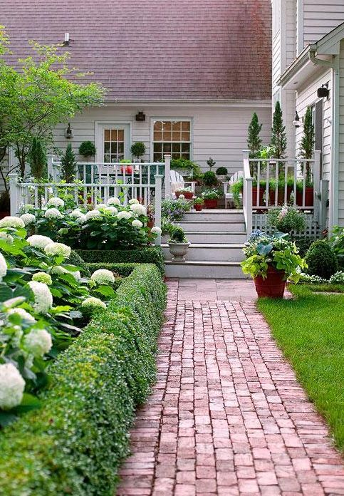 Lovely brick walkway • photo BHG