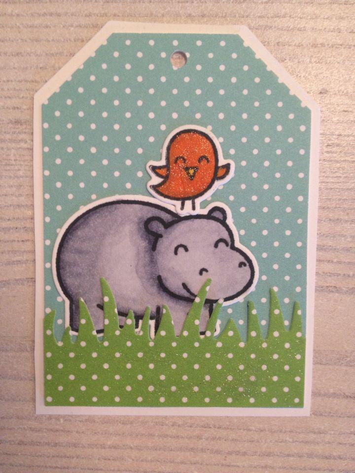 Cute hippo tag.