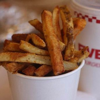 Five Guys Hack-The Five Guys secret menu includes an order of french fries which are fried longer! Give well done fries at Five Guys a try.