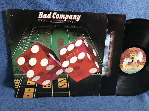 Vintage Bad Company Straight Shooter Vinyl Lp Record Album