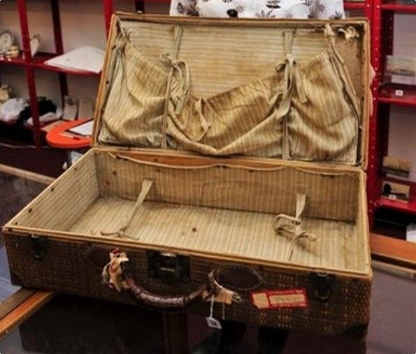 Millvina Dean's 100-Year-Old Titanic Suitcase  -- She was the last Titanic Survivor - she died in 2009