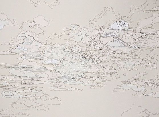 Karin Schaefer, Chihuahuan Sky #2, 2006 ink and qouache on paper 22 x 30