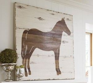 I could DIY this pottery barn pony.  or something similar.