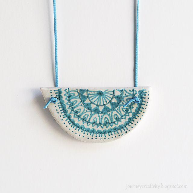 Journey into Creativity: Clay mandala pendant