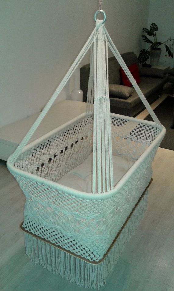 Hanging Crib for babies eyes design by HangandSwing on Etsy