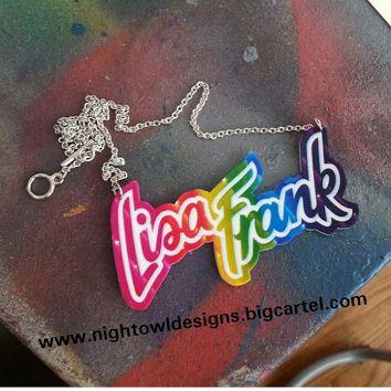 Image of Lisa Frank necklace